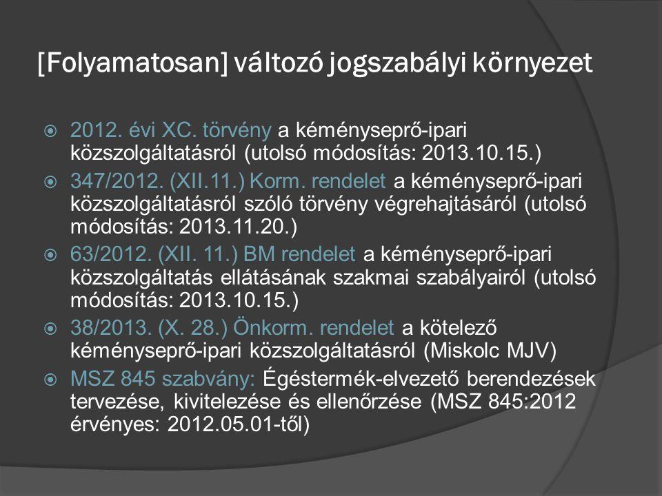 2012.évi XC. törvény a kéményseprő-ipari közszolgáltatásról  1.