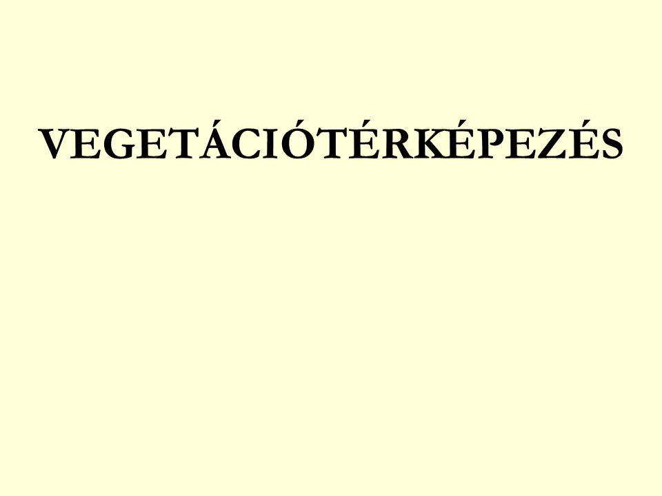 VEGETÁCIÓTÉRKÉPEZÉS