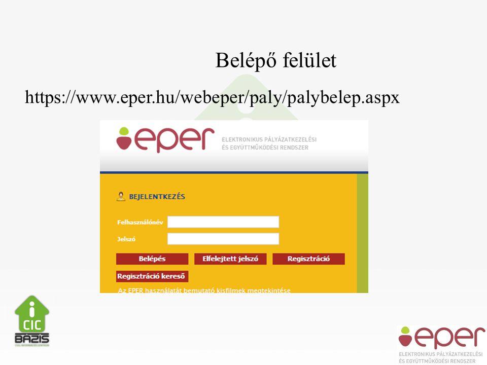 https://www.eper.hu/webeper/paly/palybelep.aspx Belépő felület