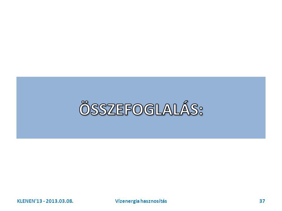 KLENEN'13 - 2013.03.08.37Vízenergia hasznosítás