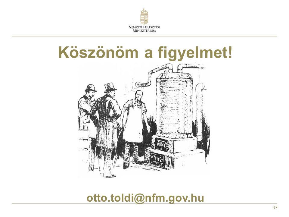 19 Köszönöm a figyelmet! otto.toldi@nfm.gov.hu
