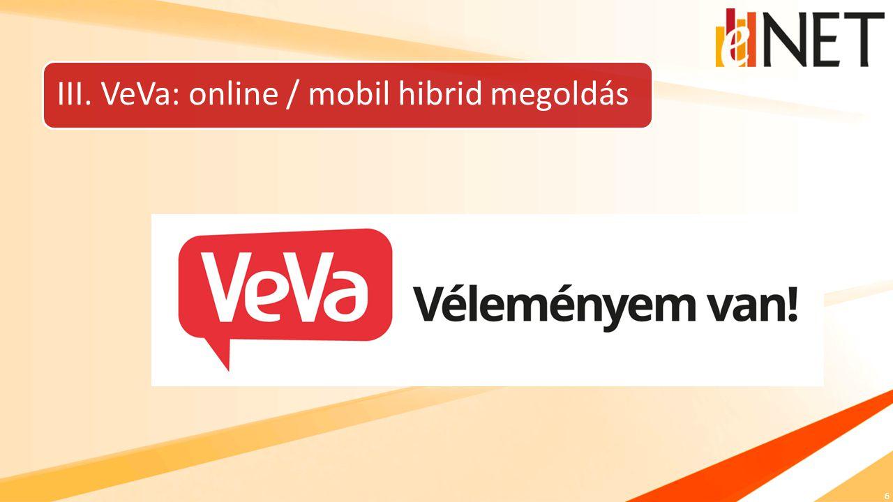6 III. VeVa: online / mobil hibrid megoldás