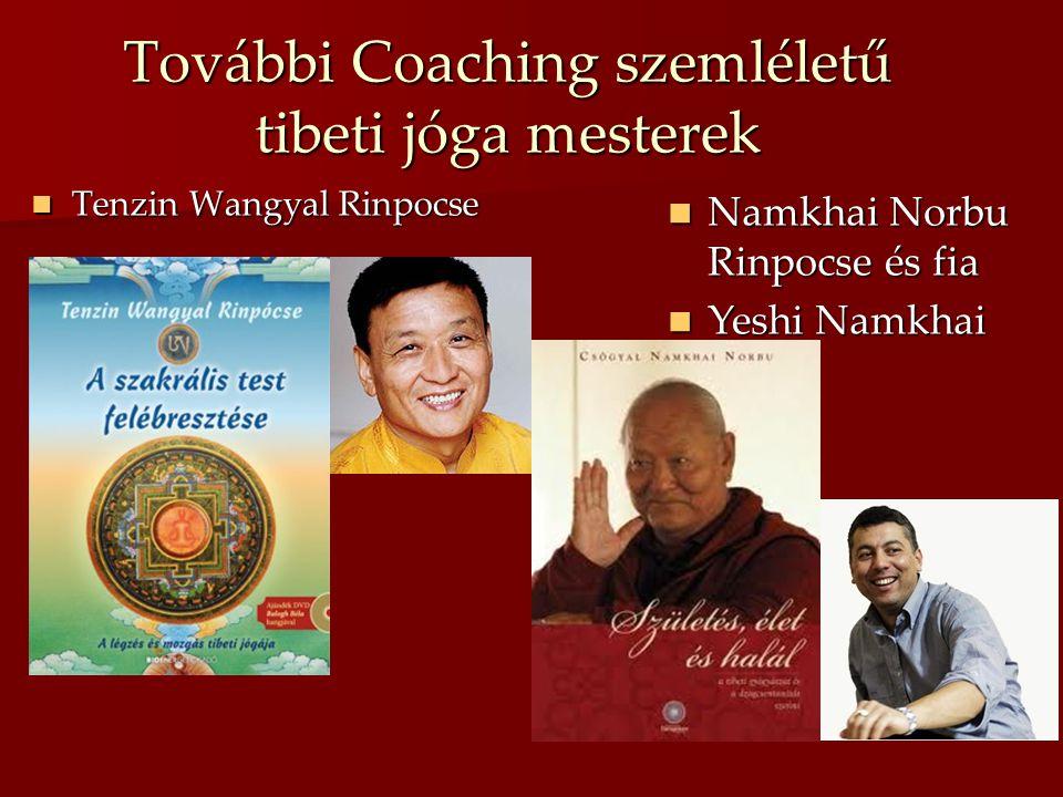 További Coaching szemléletű tibeti jóga mesterek  Tenzin Wangyal Rinpocse  Namkhai Norbu Rinpocse és fia  Yeshi Namkhai