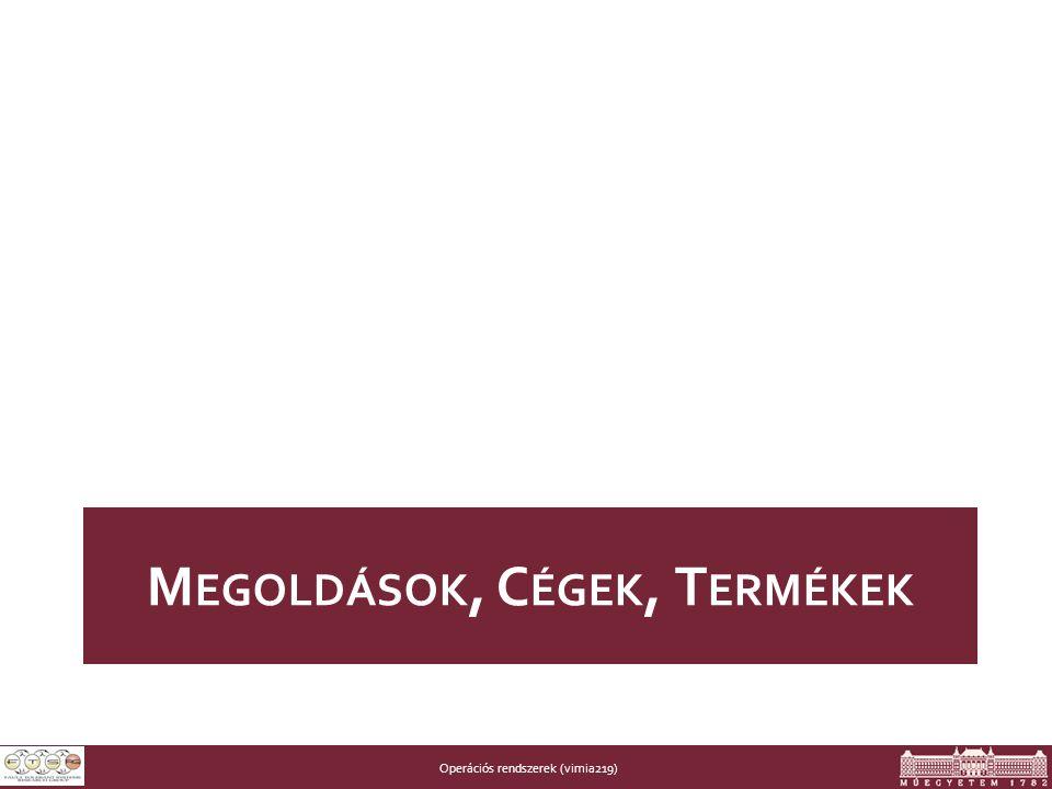 Operációs rendszerek (vimia219) M EGOLDÁSOK, C ÉGEK, T ERMÉKEK