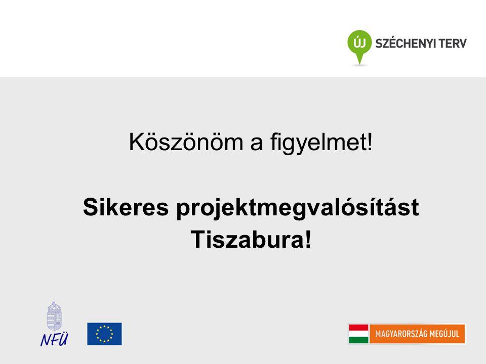 Köszönöm a figyelmet! Sikeres projektmegvalósítást Tiszabura!
