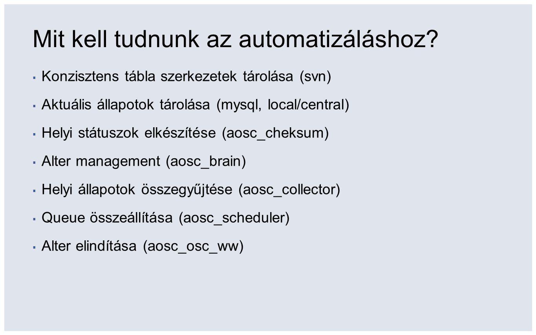 Mit kell tudnunk az automatizáláshoz.