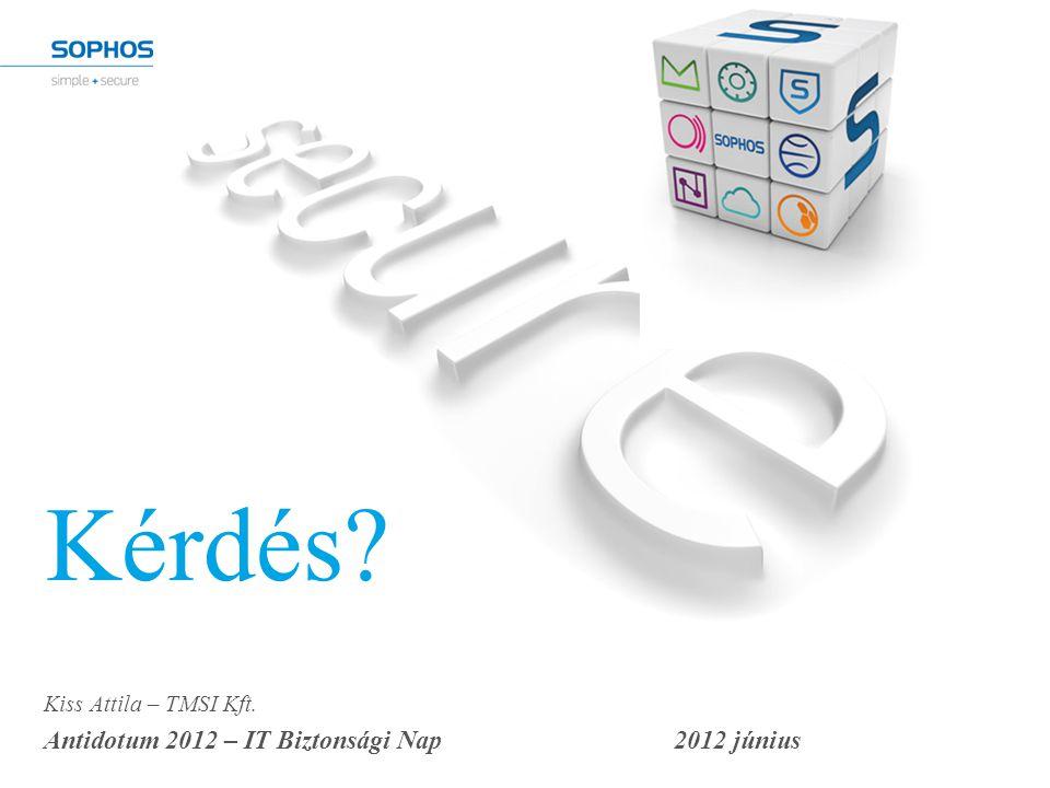 Kérdés? Kiss Attila – TMSI Kft. Antidotum 2012 – IT Biztonsági Nap2012 június