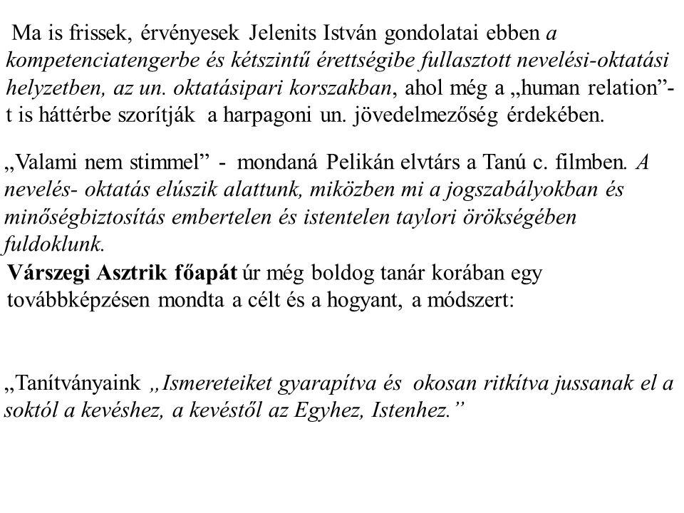 """Jelenits István piarista: """"Ha valaki beszél…""""interjúk és versek kötet egyik beszélgetésében ezeket mondja: """"Így sikerült átmenteni hagyományainkat, s"""