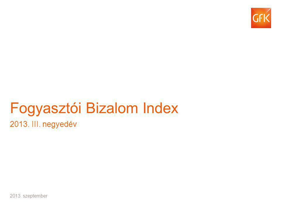 © GfK 2013 | Fogyasztói Bizalom Index | 2013. III.