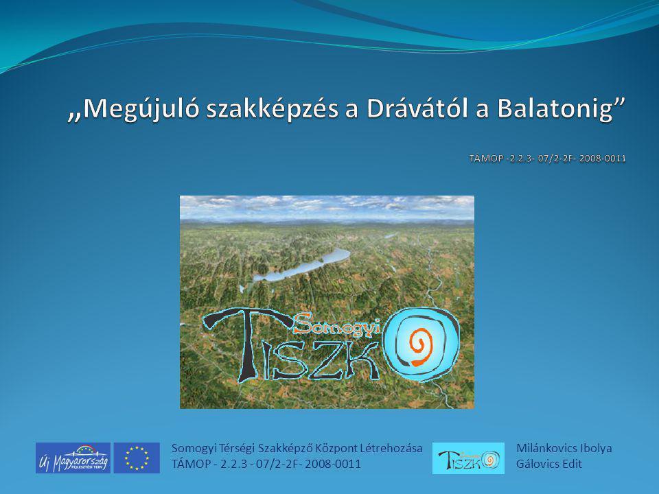 Somogyi Térségi Szakképző Központ Létrehozása TÁMOP - 2.2.3 - 07/2-2F- 2008-0011 Milánkovics Ibolya Gálovics Edit
