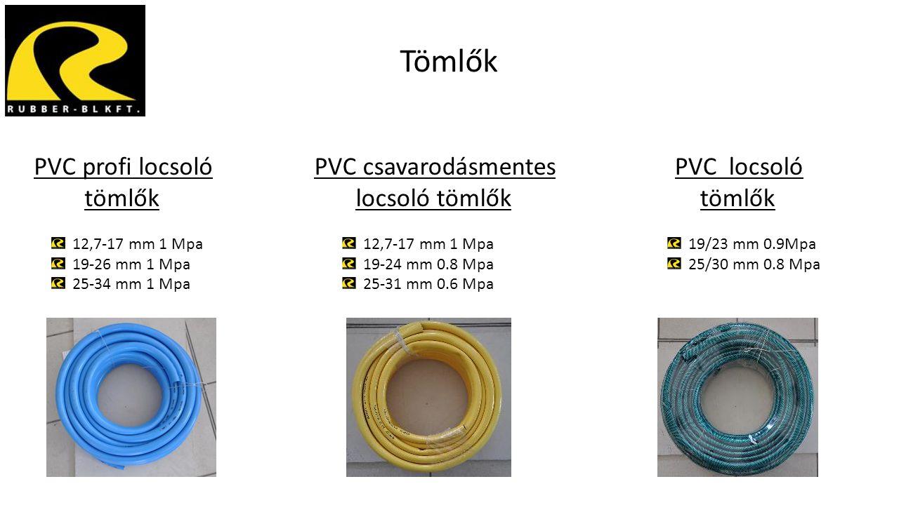 Tömlők PVC profi locsoló tömlők 12,7-17 mm 1 Mpa 19-26 mm 1 Mpa 25-34 mm 1 Mpa PVC csavarodásmentes locsoló tömlők 12,7-17 mm 1 Mpa 19-24 mm 0.8 Mpa 2
