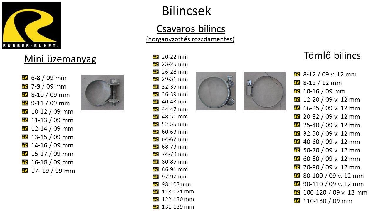 Csavaros bilincs (horganyzott és rozsdamentes) 20-22 mm 23-25 mm 26-28 mm 29-31 mm 32-35 mm 36-39 mm 40-43 mm 44-47 mm 48-51 mm 52-55 mm 60-63 mm 64-6