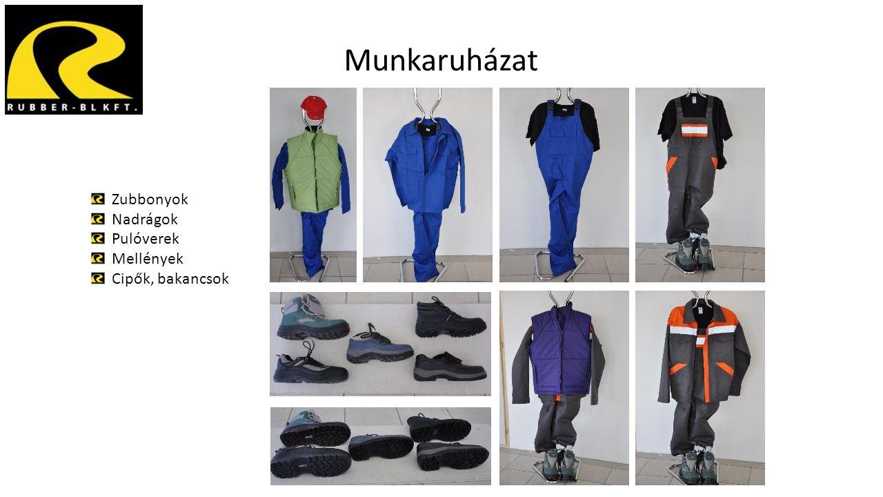 Munkaruházat Zubbonyok Nadrágok Pulóverek Mellények Cipők, bakancsok