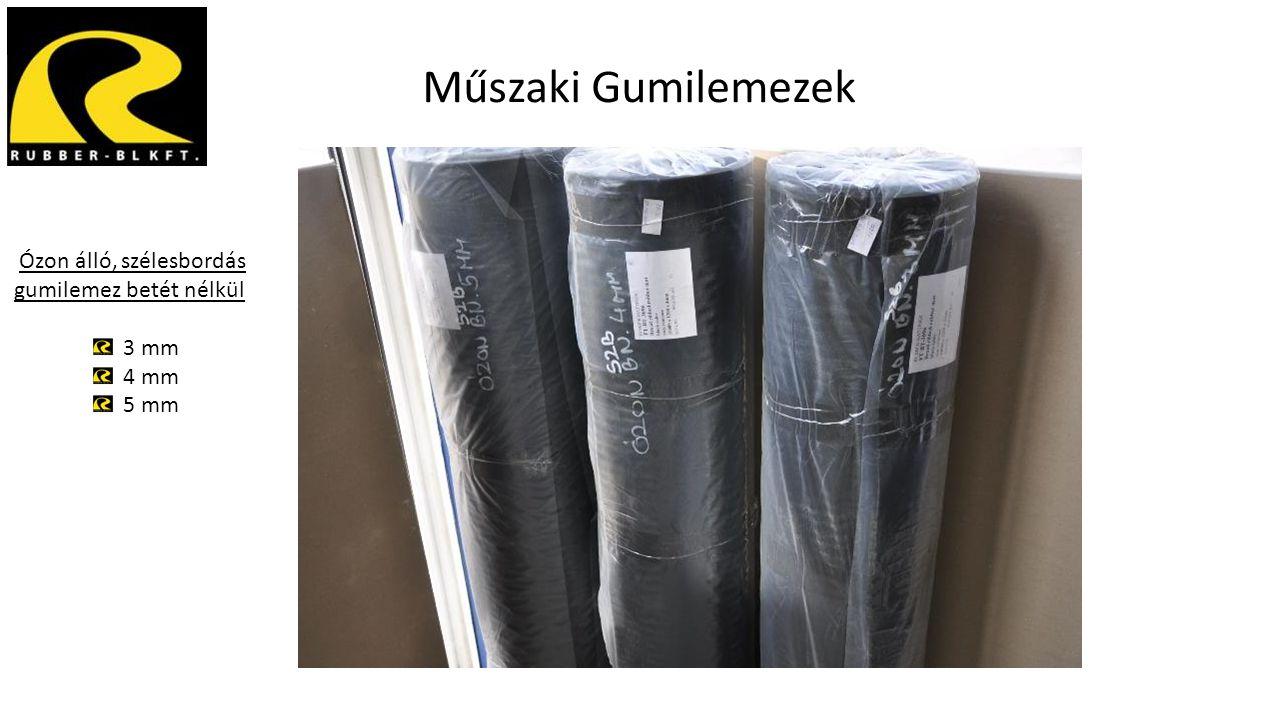 Műszaki Gumilemezek Ózon álló, szélesbordás gumilemez betét nélkül 3 mm 4 mm 5 mm