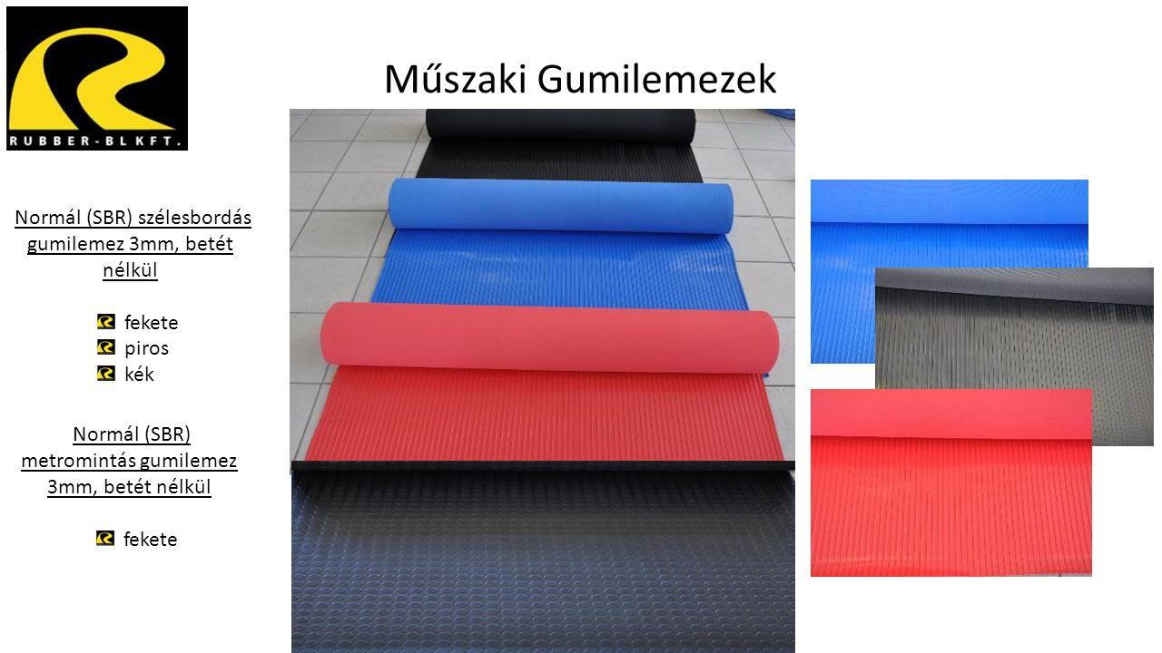 Műszaki Gumilemezek Normál (SBR) szélesbordás gumilemez 3mm, betét nélkül fekete piros kék Normál (SBR) metromintás gumilemez 3mm, betét nélkül fekete