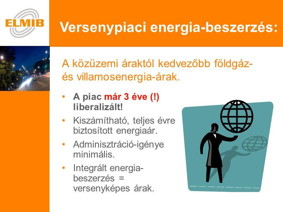 e A közüzemi áraktól kedvezőbb földgáz- és villamosenergia-árak.