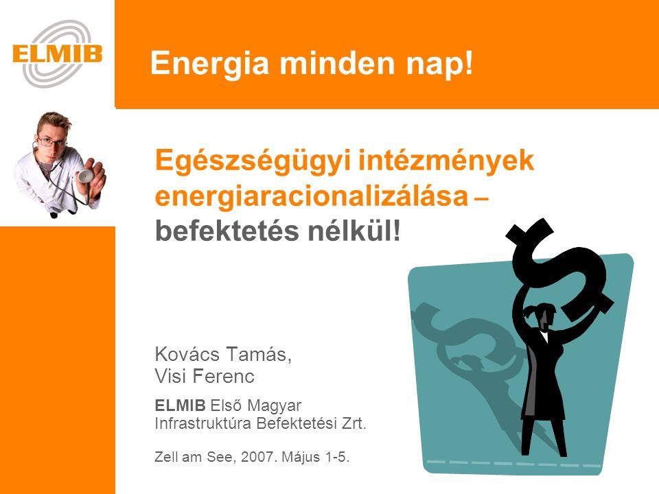 Egészségügyi intézmények energiaracionalizálása – befektetés nélkül.