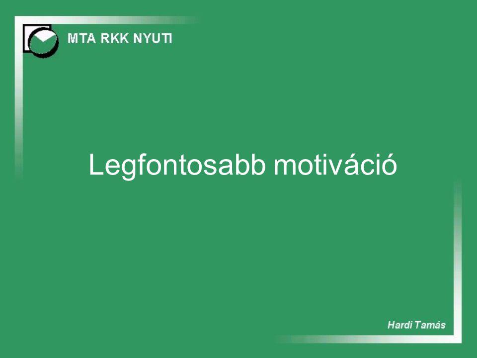 Legfontosabb motiváció