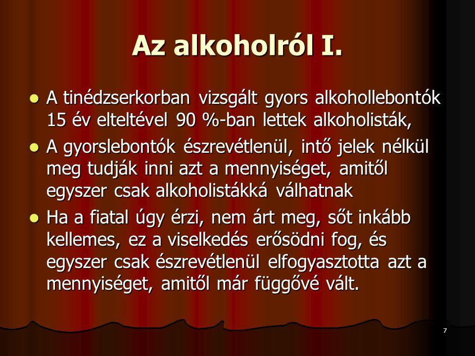 7 Az alkoholról I.