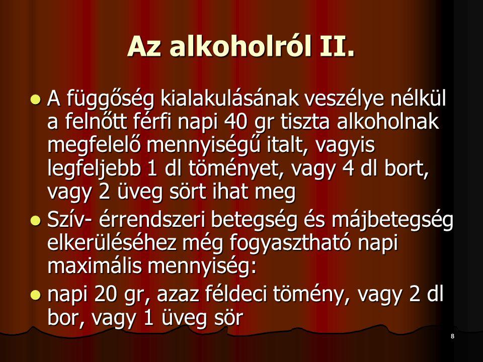8 Az alkoholról II.