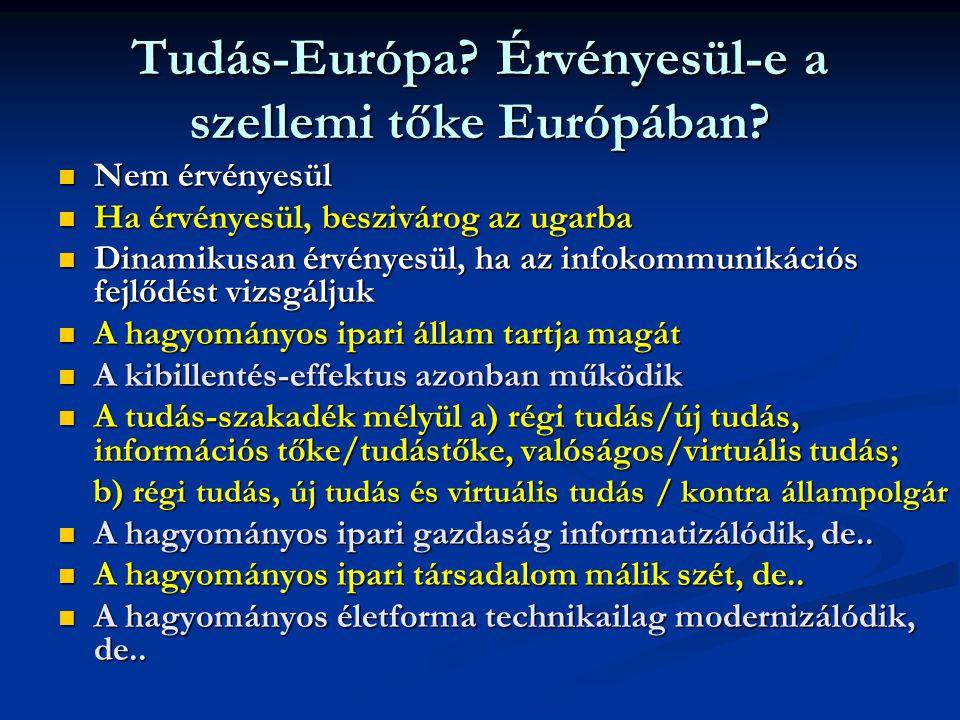 Tudás-Európa.Érvényesül-e a szellemi tőke Európában.