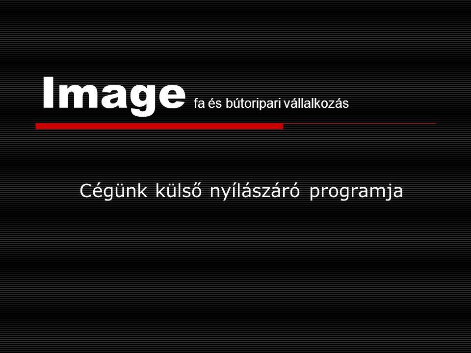 Image fa és bútoripari vállalkozás Cégünk külső nyílászáró programja