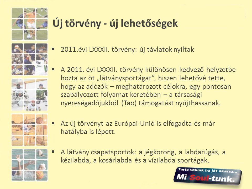 """Új törvény - új lehetőségek  2011.évi LXXXII. törvény: új távlatok nyíltak  A 2011. évi LXXXII. törvény különösen kedvező helyzetbe hozta az öt """"lát"""