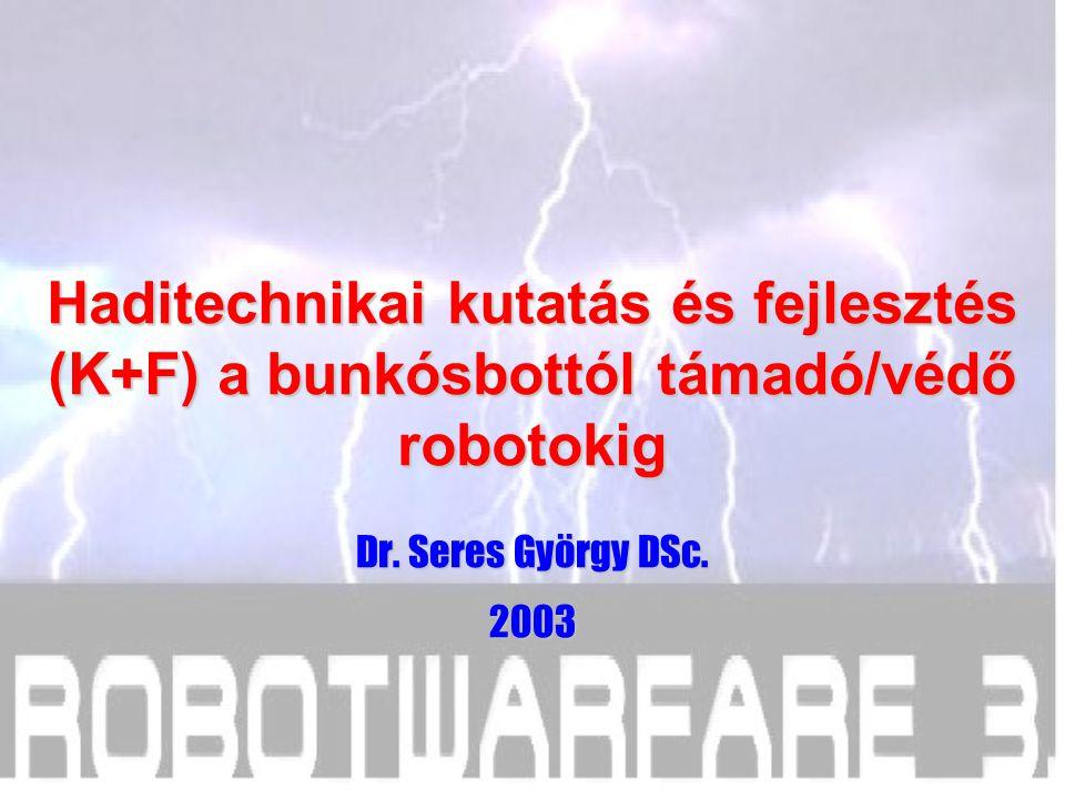Haditechnikai kutatás és fejlesztés (K+F) a bunkósbottól támadó/védő robotokig Dr.