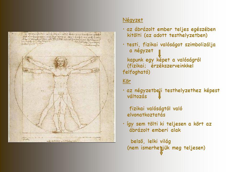 Négyzet • az ábrázolt ember teljes egészében kitölti (az adott testhelyzetben) • testi, fizikai valóságot szimbolizálja a négyzet kapunk egy képet a v