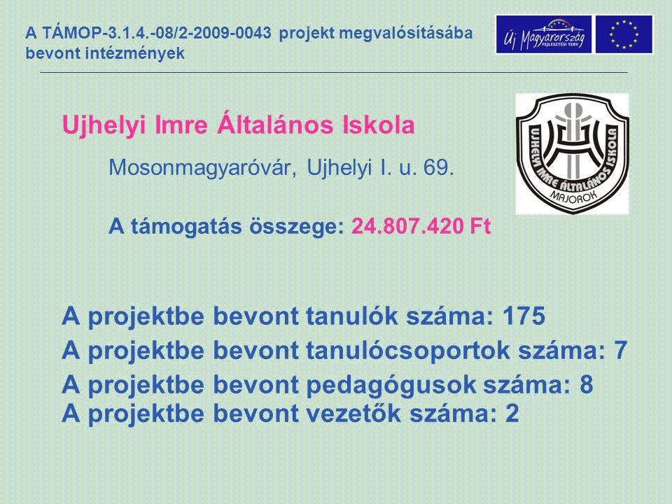 A TÁMOP-3.1.4.-08/2-2009-0043 projekt megvalósításába bevont intézmények Ujhelyi Imre Általános Iskola Mosonmagyaróvár, Ujhelyi I.