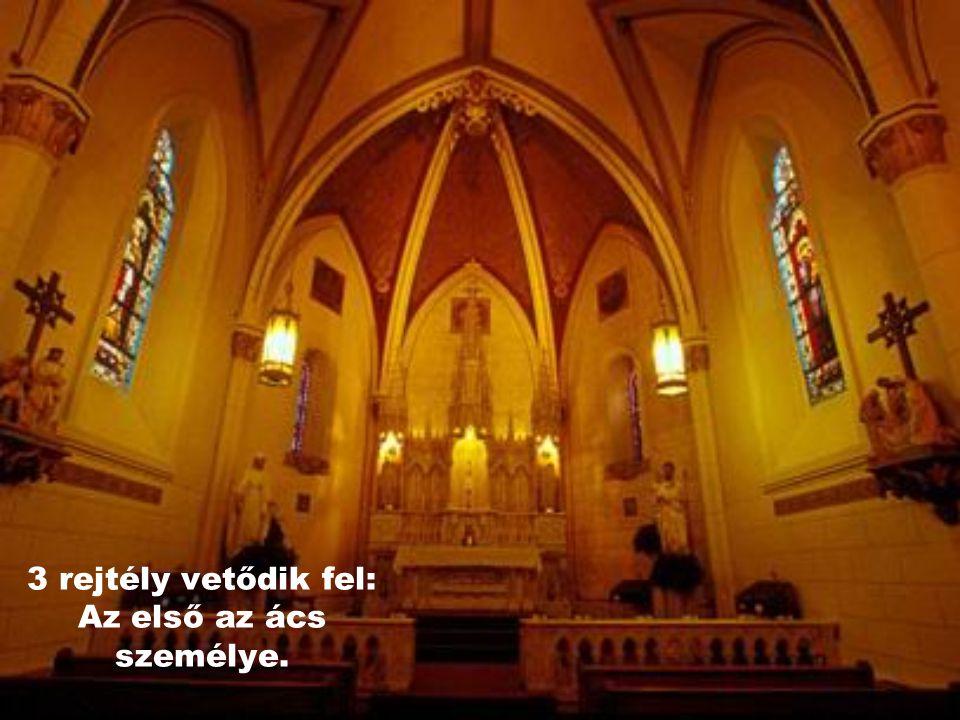 """... akit Jézus küldött a szerzetesek megsegítésére. Azóta úgy tartják, hogy ez a lépcső """"csoda"""" és zarándok hellyé vált."""