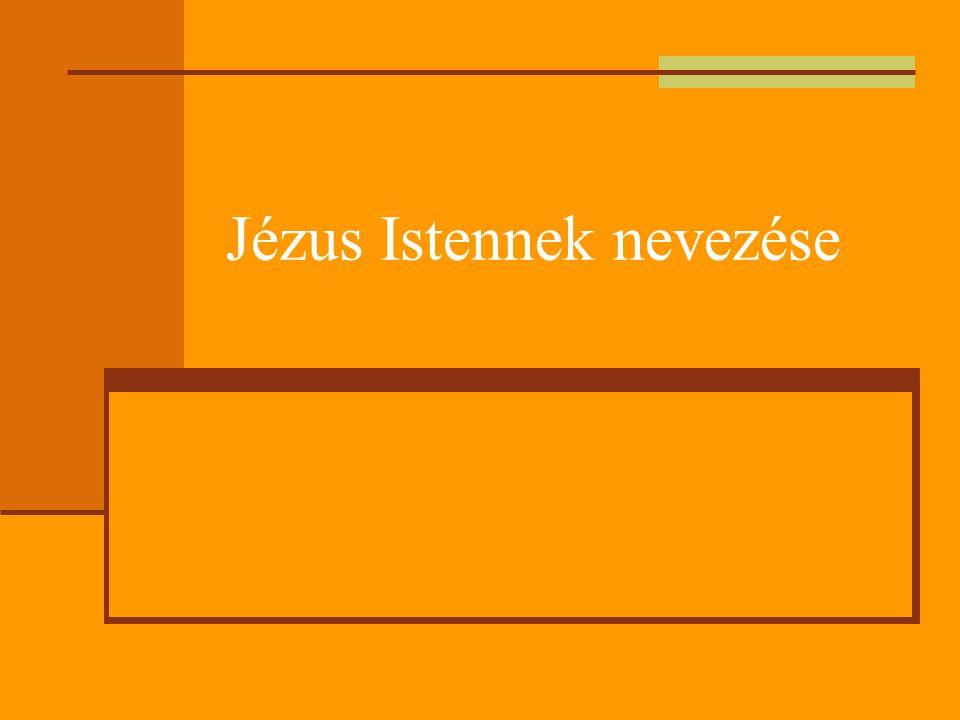 Isten jelentésű címek  Küriosz: Jézus a világ kormányzója  Logosz: örök kinyilatkoztatás  Isten Fia: teljes (akarati és lényegi) egységben van az Atyával  Emberfia: Jézus Isten egyetlen, igazi képe  E címeknek azonban csak az üdvtörténet keretében van értelme.