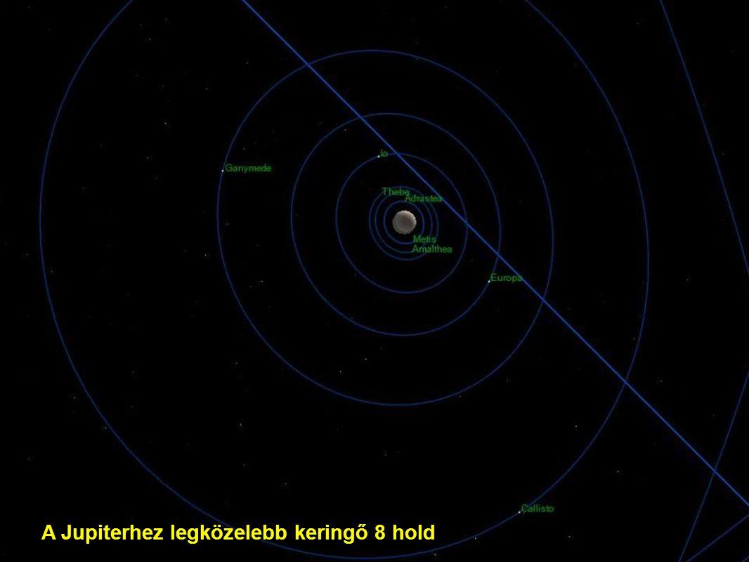 A Jupiterhez legközelebb keringő 8 hold