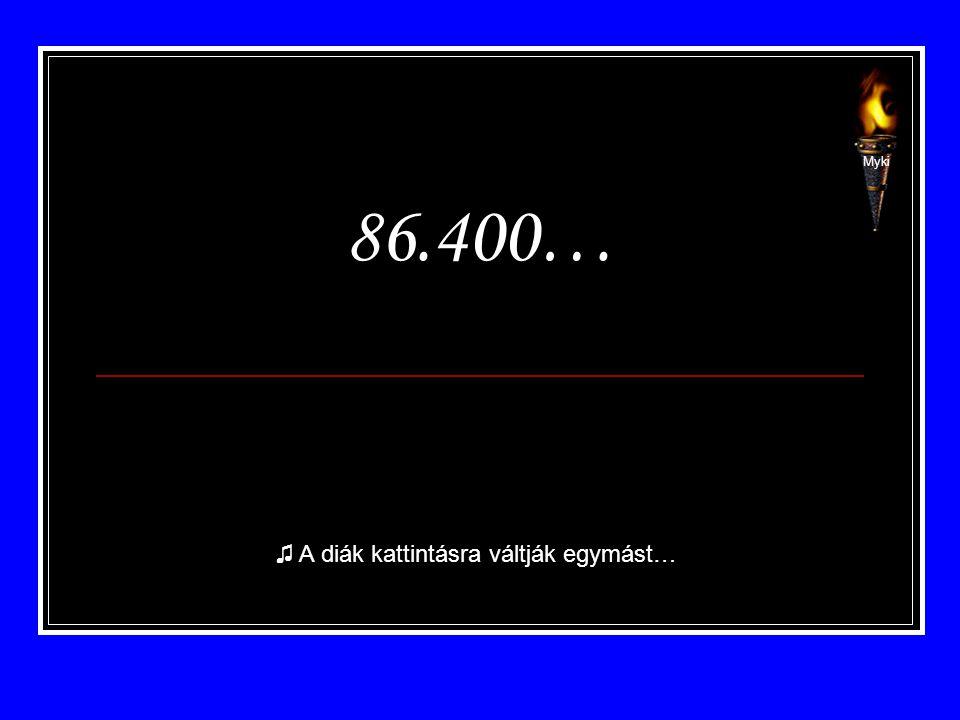 86.400… ♫ A diák kattintásra váltják egymást… Myki