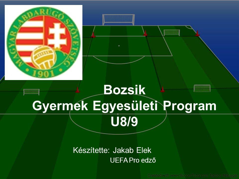 Bozsik Gyermek Egyesületi Program U8/9 Készítette: Jakab Elek UEFA Pro edző