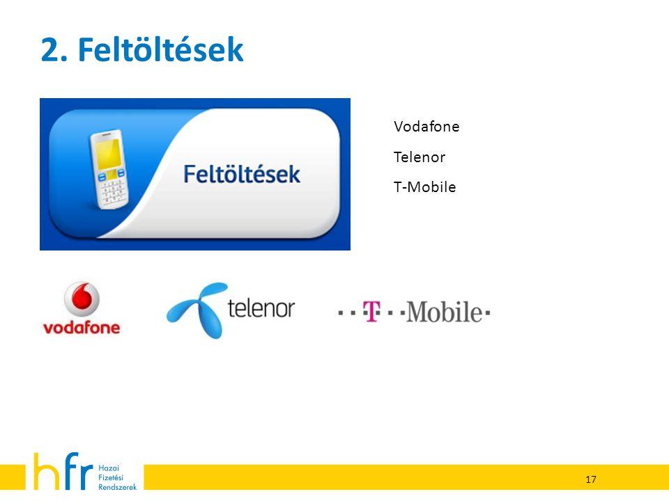 17 2. Feltöltések Vodafone Telenor T-Mobile