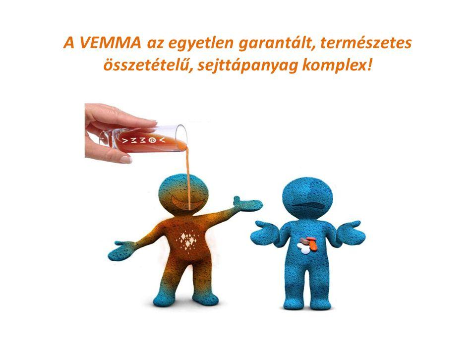 A VEMMA az egyetlen garantált, természetes összetételű, sejttápanyag komplex!
