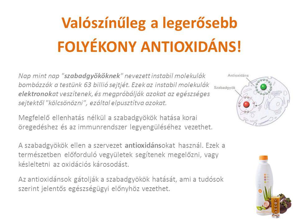 Valószínűleg a legerősebb FOLYÉKONY ANTIOXIDÁNS.