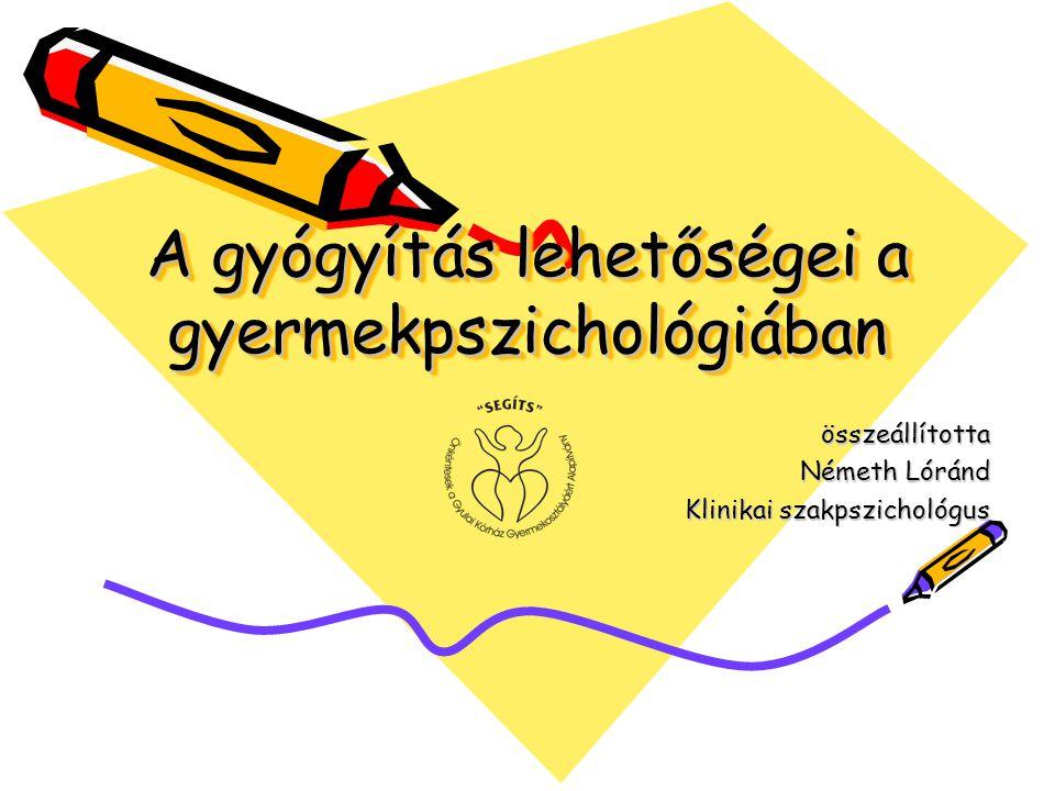 A gyógyítás lehetőségei a gyermekpszichológiában összeállította Németh Lóránd Klinikai szakpszichológus
