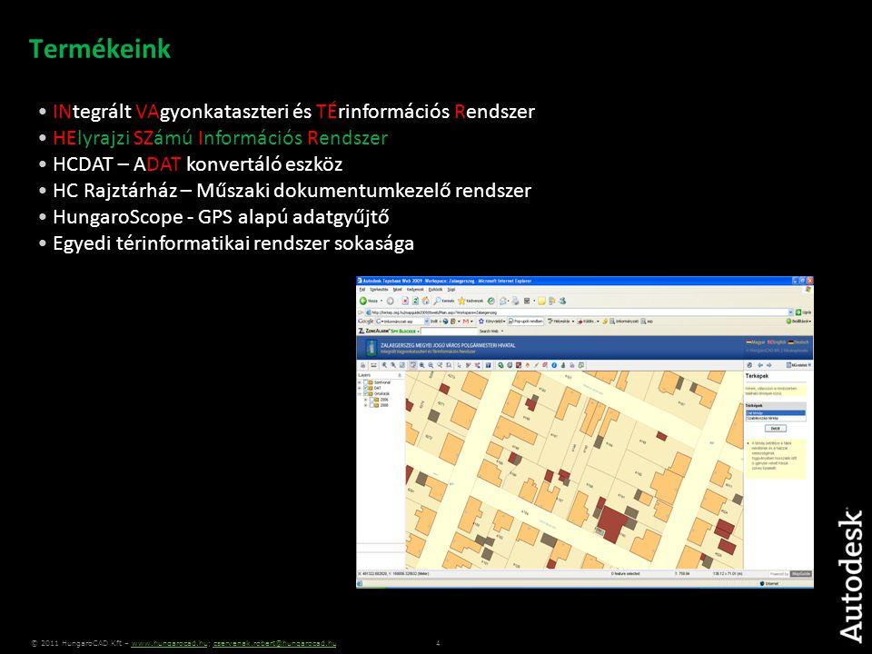 5 © 2011 HungaroCAD Kft – www.hungarocad.hu; cservenak.robert@hungarocad.huwww.hungarocad.hucservenak.robert@hungarocad.hu A CAD szerepe a térinformatikában: Adat előállítás CAD-es tervezők Térinformatikai szerkesztők  Téradatok  Létrehozása  Szerkesztése  Elemzése (2D / 3D)  Térképezési funkciók  Térinformatikai eszköz  Teljes AutoCAD funkcionalitás  Nyitott adatkapcsolati felület (FDO)  CAD + GIS • Saját térképek készítése • Térképi adatszolgáltatás • Szerkesztő eszköz • Térinformatikai alapadat-előállítás