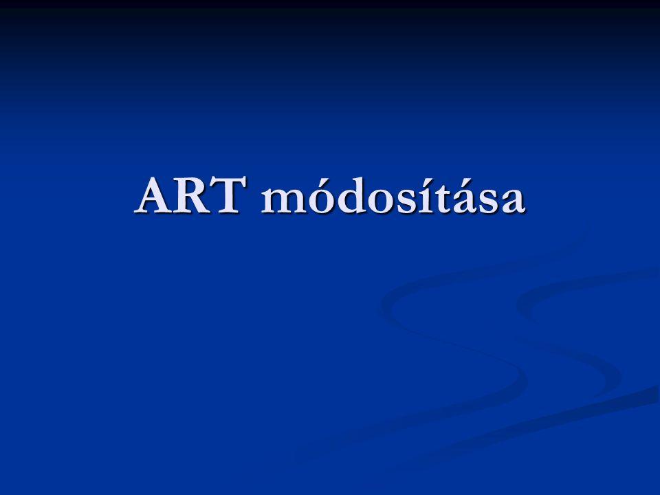 ART módosítása
