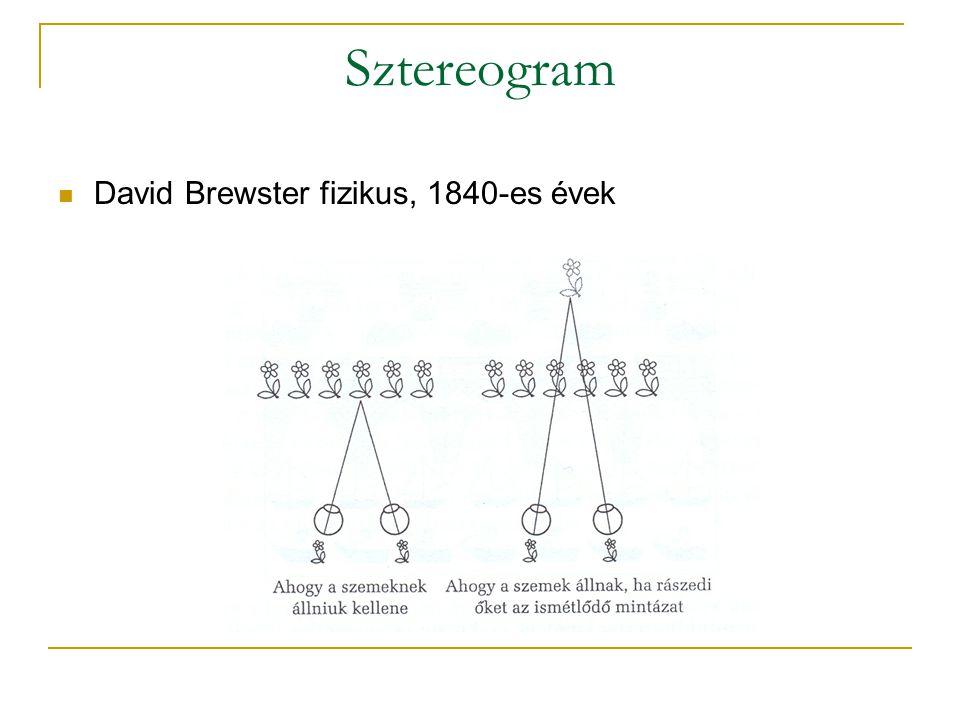 Sztereogram  David Brewster fizikus, 1840-es évek