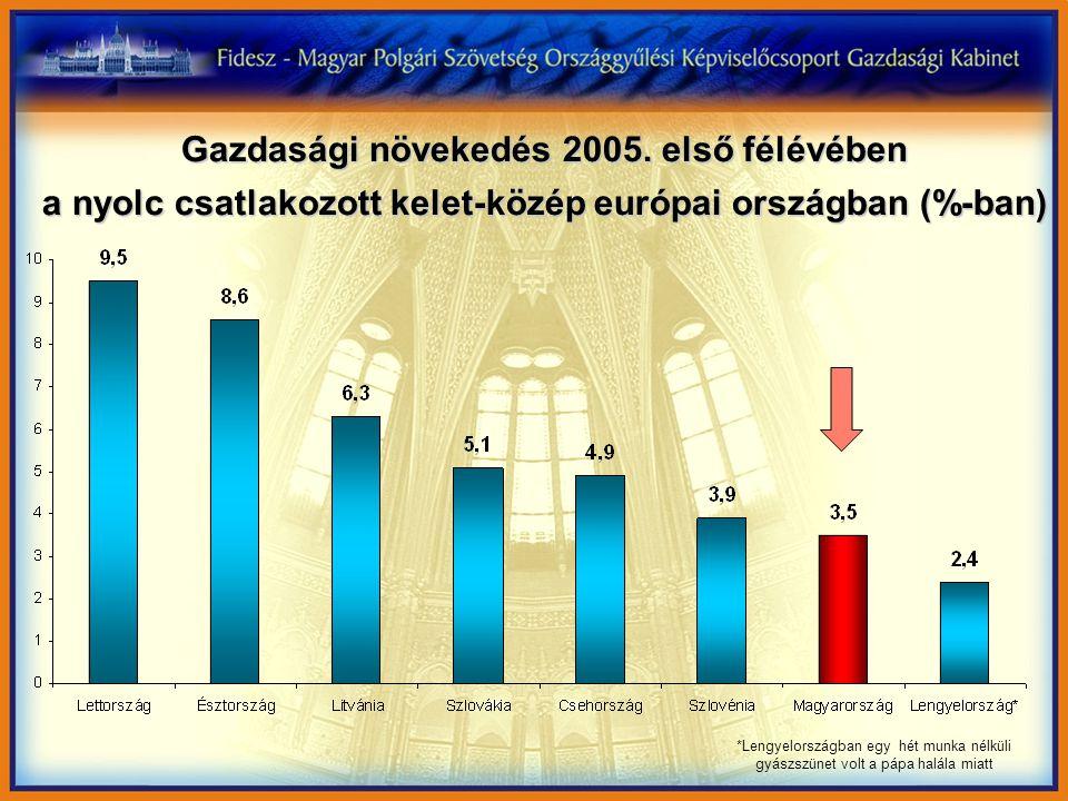 Gazdasági növekedés 2005.