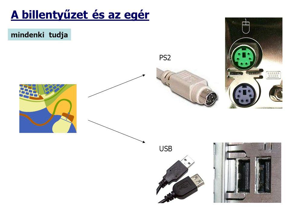 A billentyűzet és az egér mindenki tudja PS2 USB