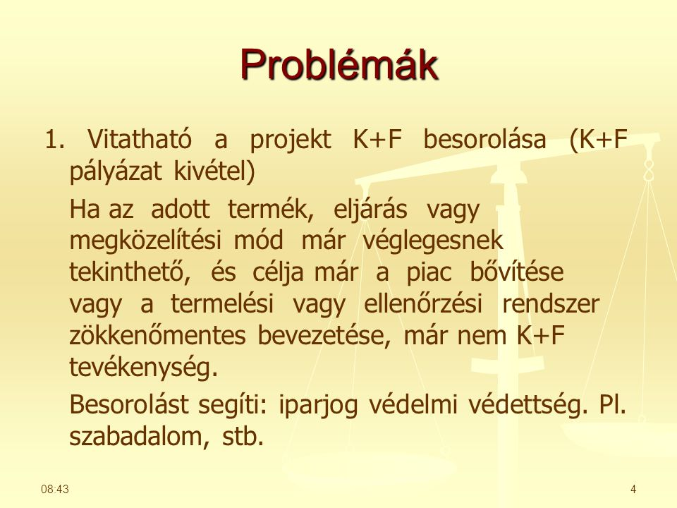 Problémák 1.
