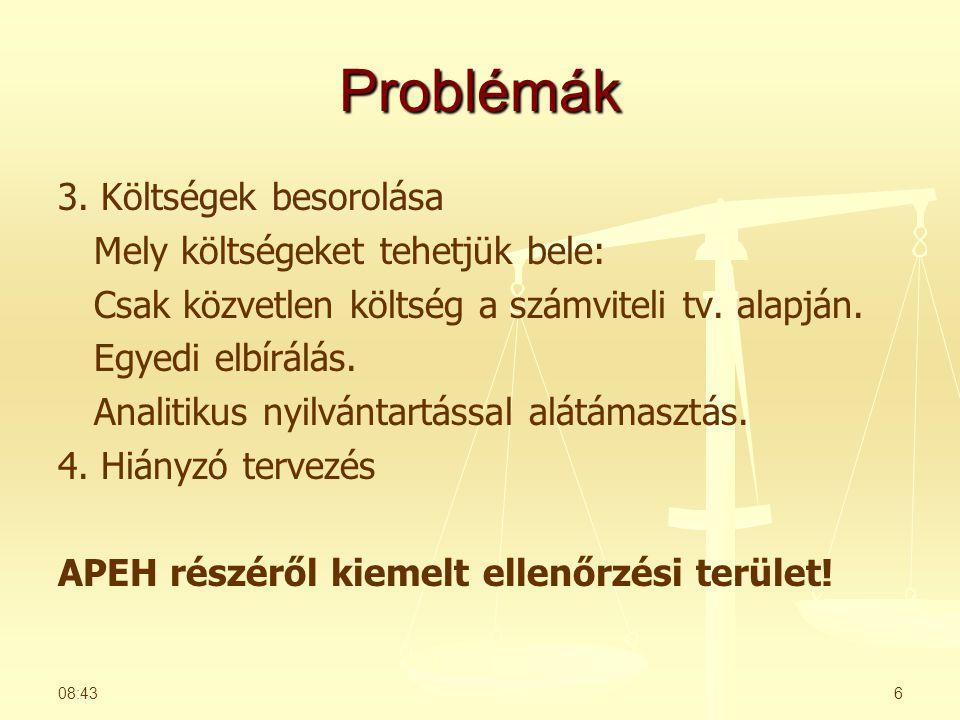 Problémák 3.