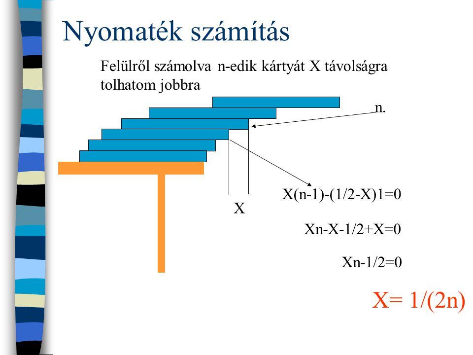 Nyomaték számítás X n.