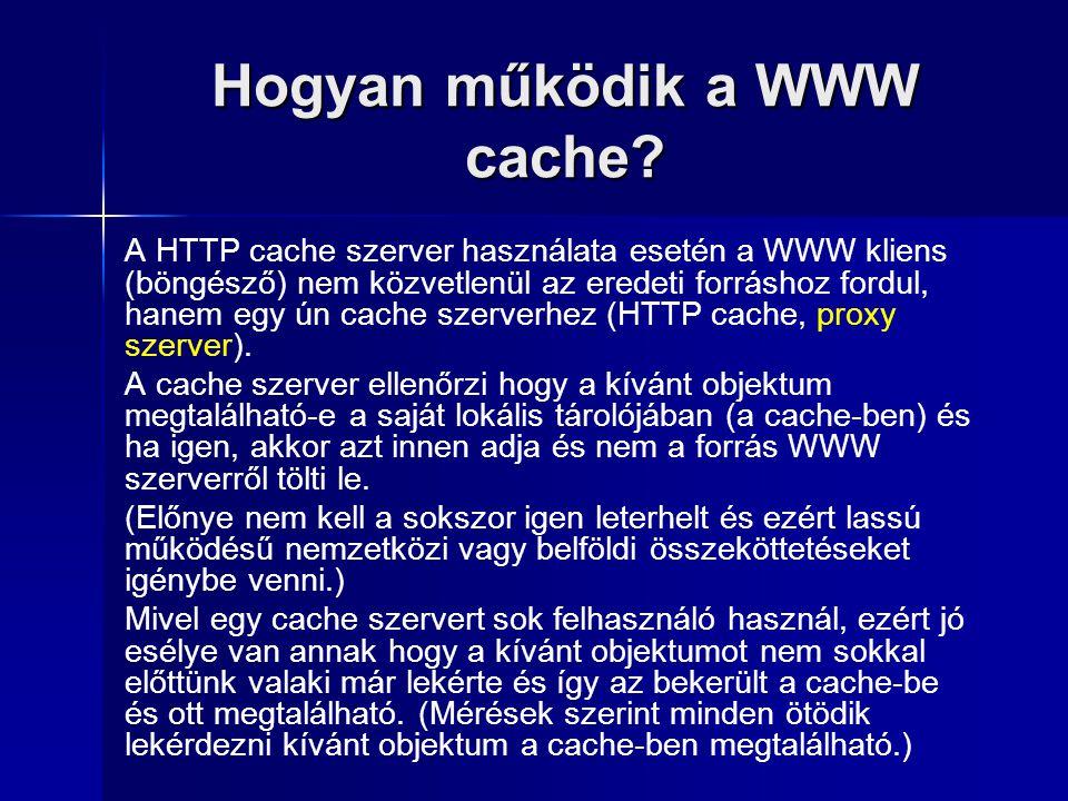 Hogyan működik a WWW cache.