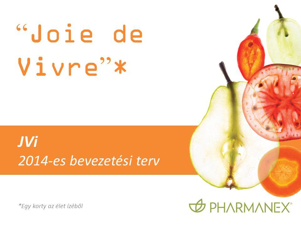 """"""" Joie de Vivre """" * *Egy korty az élet ízéből JVi 2014-es bevezetési terv"""