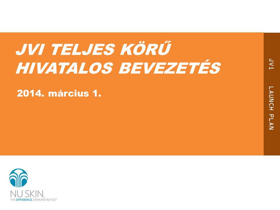 JVi LAUNCH PLAN JVI TELJES KÖRŰ HIVATALOS BEVEZETÉS 2014. március 1.